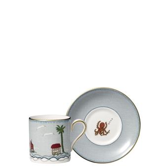 Kit Kemp Sailors Farewell Espresso Cup & Saucer Set