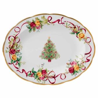 로얄 알버트 Royal Albert Old Country Roses Christmas Tree Platter