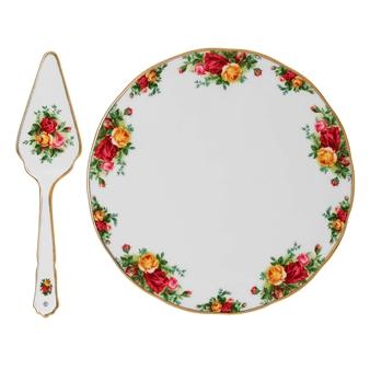 로얄 알버트 Royal Albert Old Country Roses Cake Plate & Server