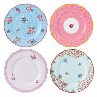 로얄 알버트 Royal Albert Candy Plates, Set of 4