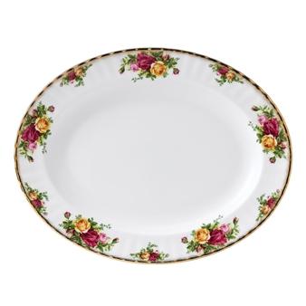 로얄 알버트 Royal Albert Old Country Roses 15in Oval Serving Platter