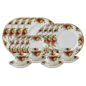 로얄 알버트 Royal Albert Old Country Roses 20-Piece Dinnerware Set