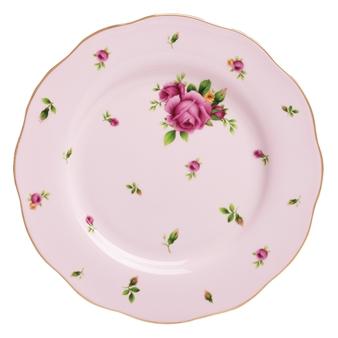 로얄 알버트 Royal Albert New Country Roses Pink Vintage Salad Plate
