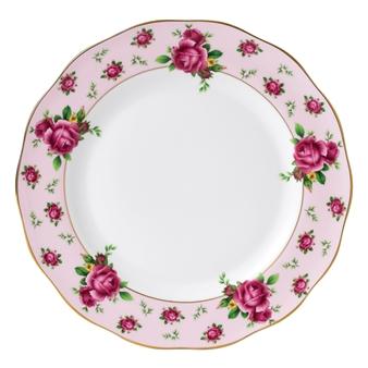 로얄 알버트 Royal Albert New Country Roses Pink Vintage Dinner Plate