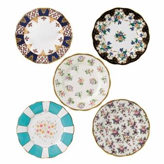 로얄 알버트 Royal Albert 100 Years of 로얄 알버트 Royal Albert 1900-1940 5-Piece Plate Set