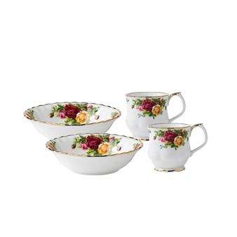 로얄 알버트 Royal Albert Old Country Roses 4-Piece Breakfast Set