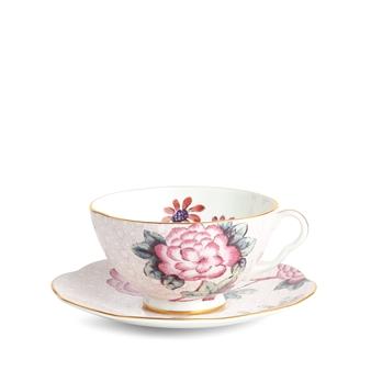 웨지우드 Wedgwood Cuckoo Pink Teacup & Saucer