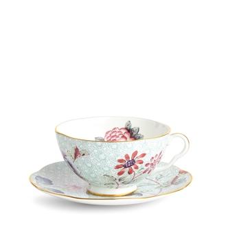 웨지우드 Wedgwood Cuckoo Green Teacup & Saucer