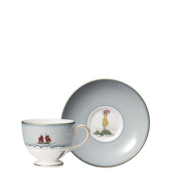 Kit Kemp Sailors Farewell Teacup & Saucer Set