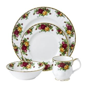 로얄 알버트 Royal Albert Old Country Roses 4-Piece Place Setting