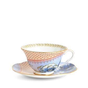 웨지우드 Wedgwood Butterfly Bloom Blue Peony Teacup & Saucer