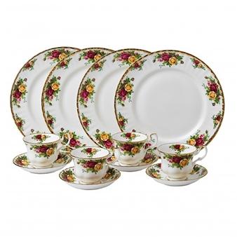 로얄 알버트 Royal Albert Old Country Roses 12-Piece Dinnerware Set