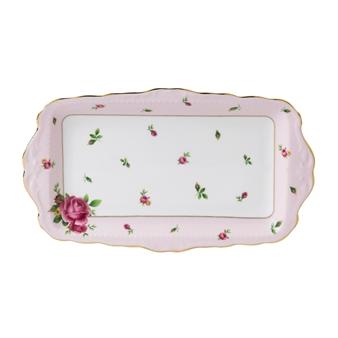 로얄 알버트 Royal Albert New Country Roses Pink Vintage Sandwich Tray