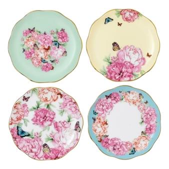 로얄 알버트 X 미란다 커 프렌즈쉽 접시 세트 Royal Albert Miranda Kerr Tidbit Plates, Set of 4