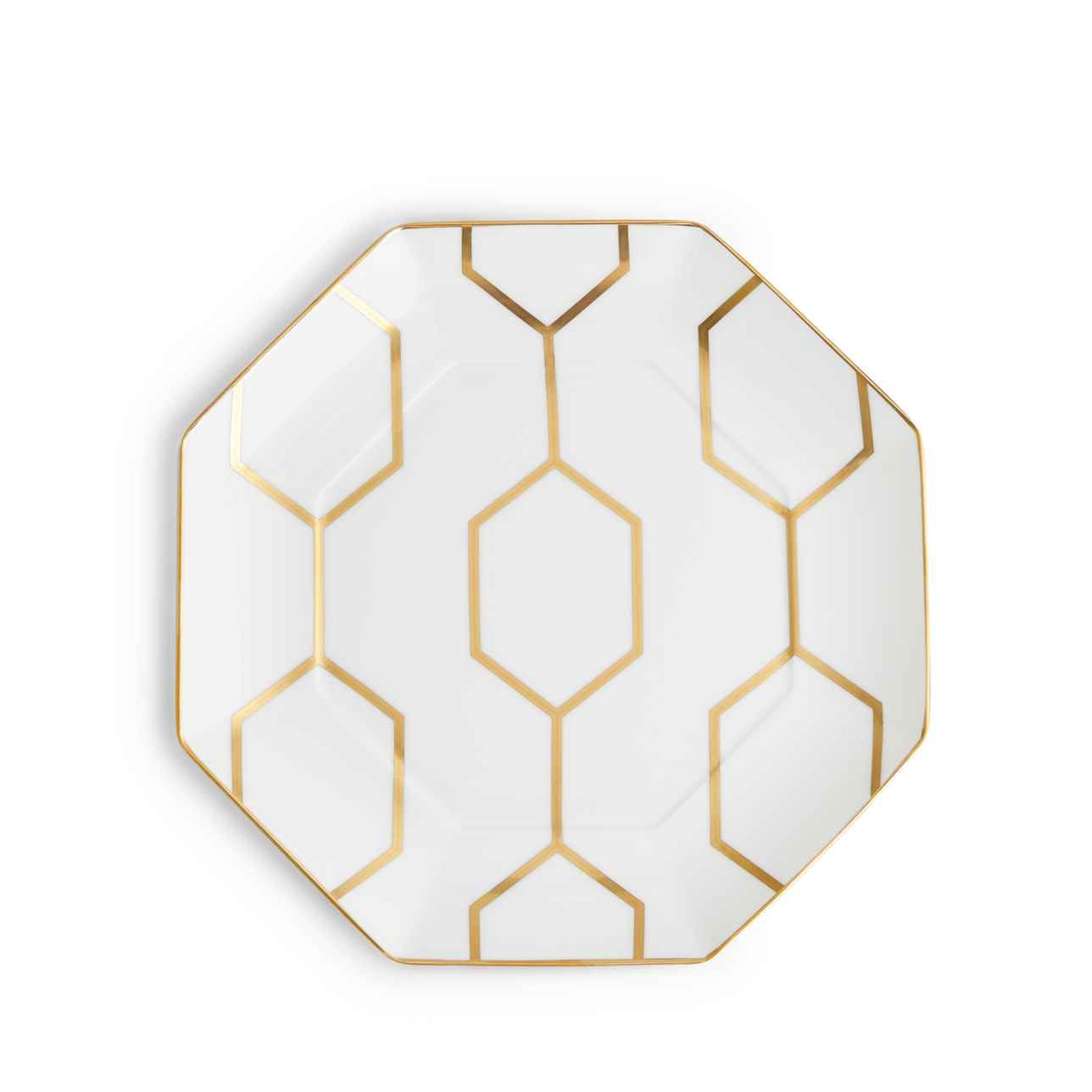 Arris White Octagonal Side Plate 23cm