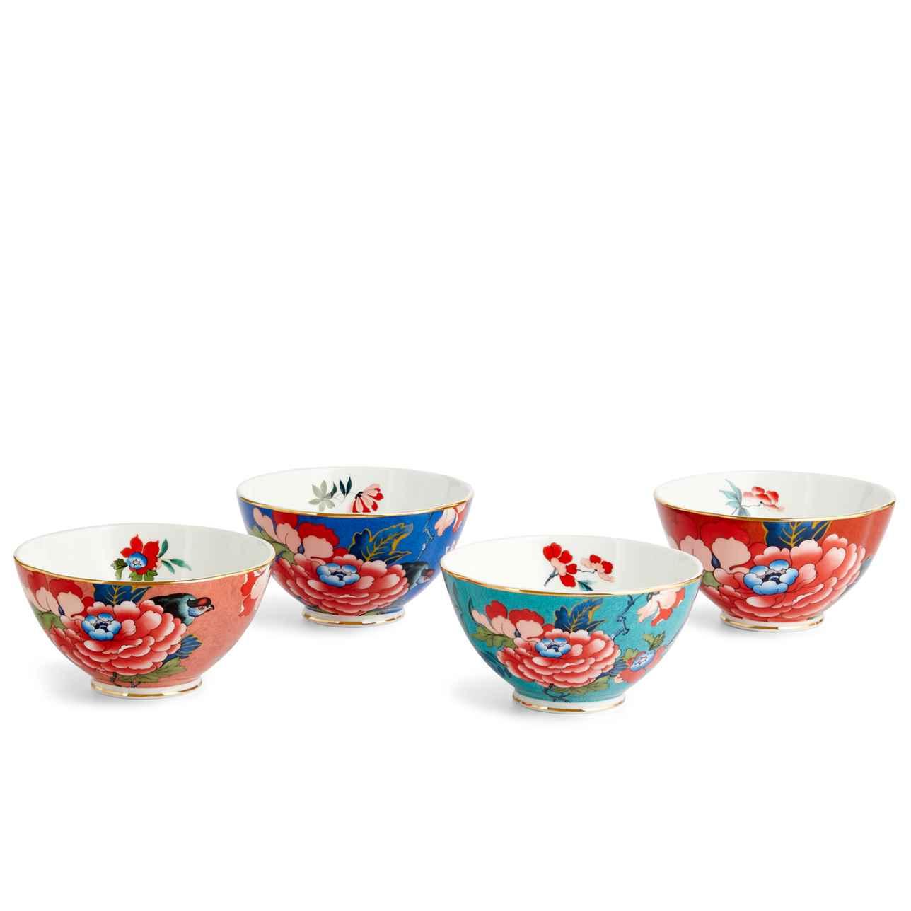 Paeonia Blush Ice Cream Bowl 11cm, Set of 4