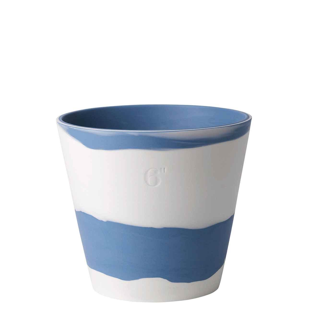 Wedgwood Burlington Pots Pale Blue on White Pot 16.4cm