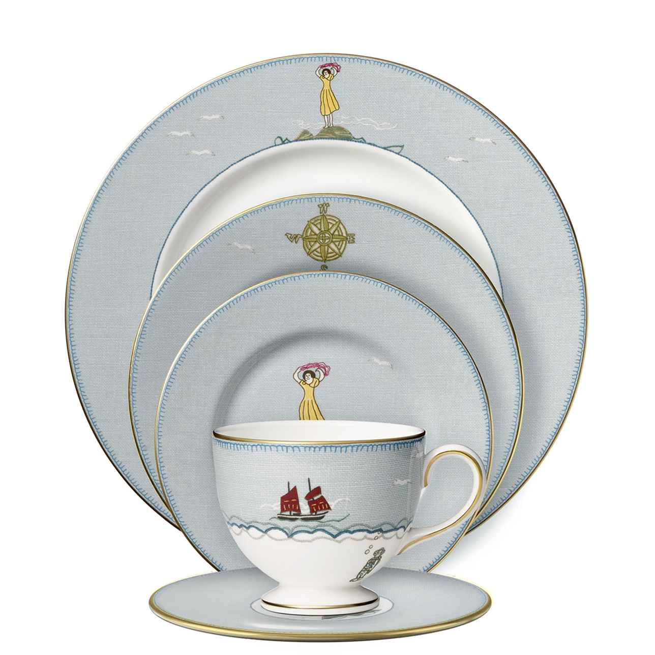 Sailor's Farewell 5 Piece Dinner Set