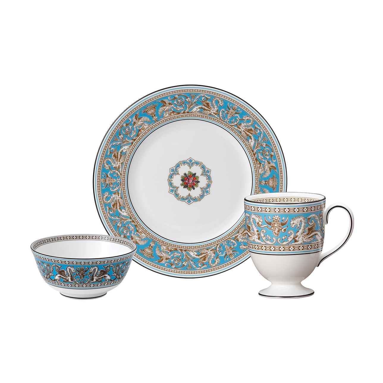 Florentine Turquoise 3 Piece Dinner Set