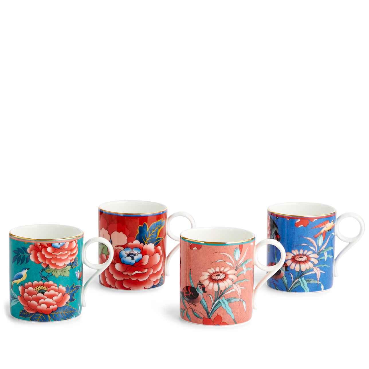 Paeonia Blush Small Mug, Set of 4