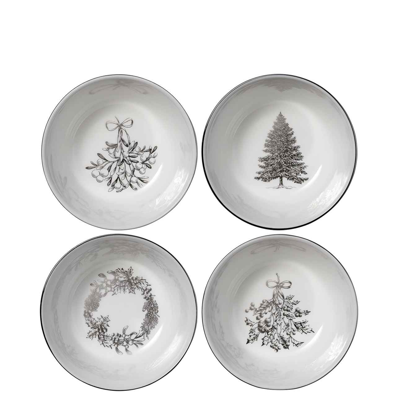 Winter White Nibble Bowls 11cm, Set of 4