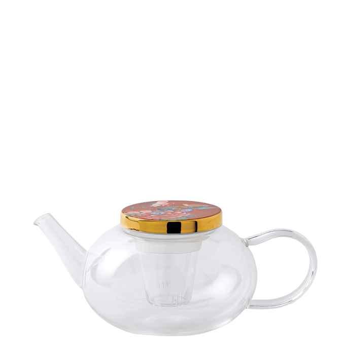 Paeonia Blush Glass Teapot