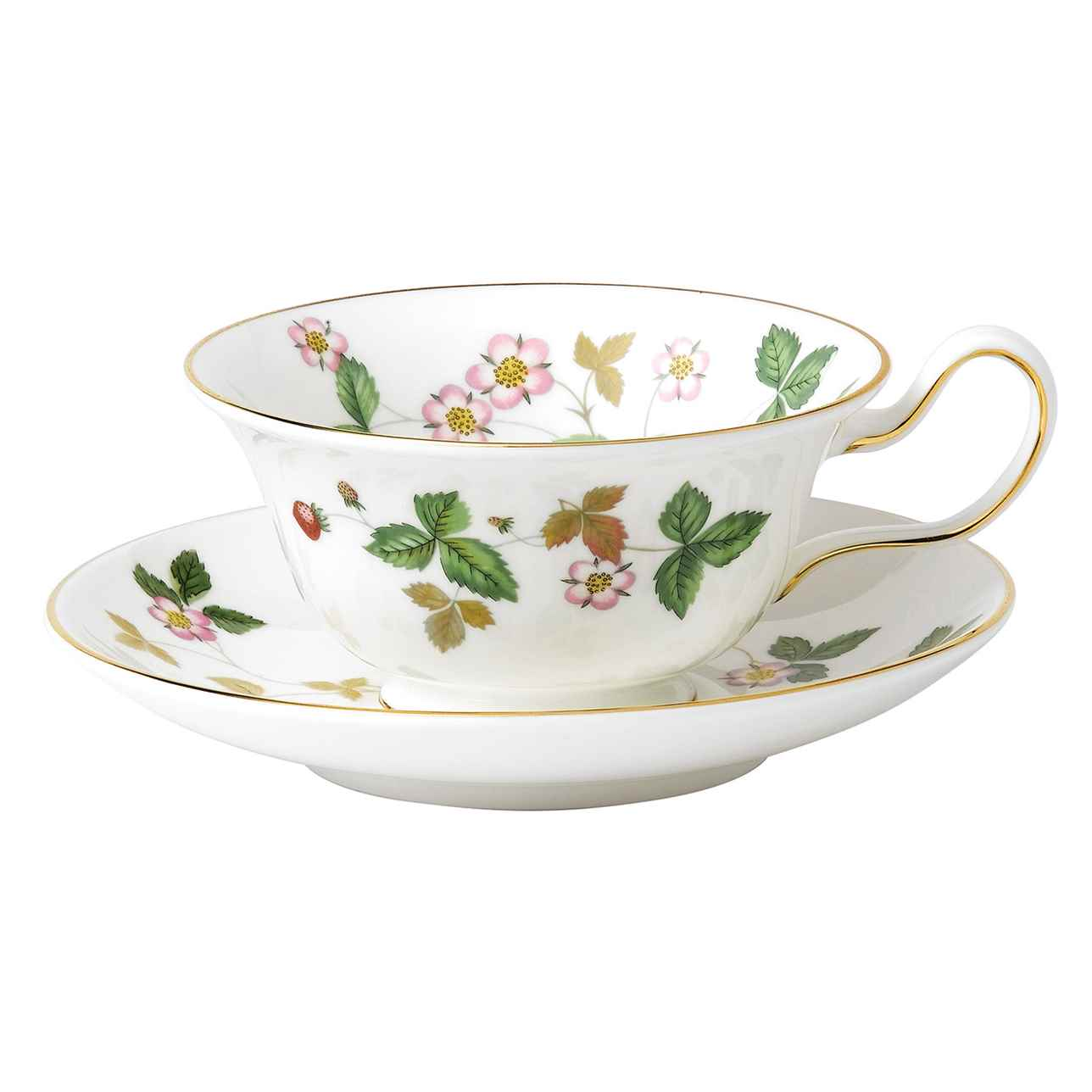 Wild Strawberry Peony Teacup and Saucer, Gift Boxed