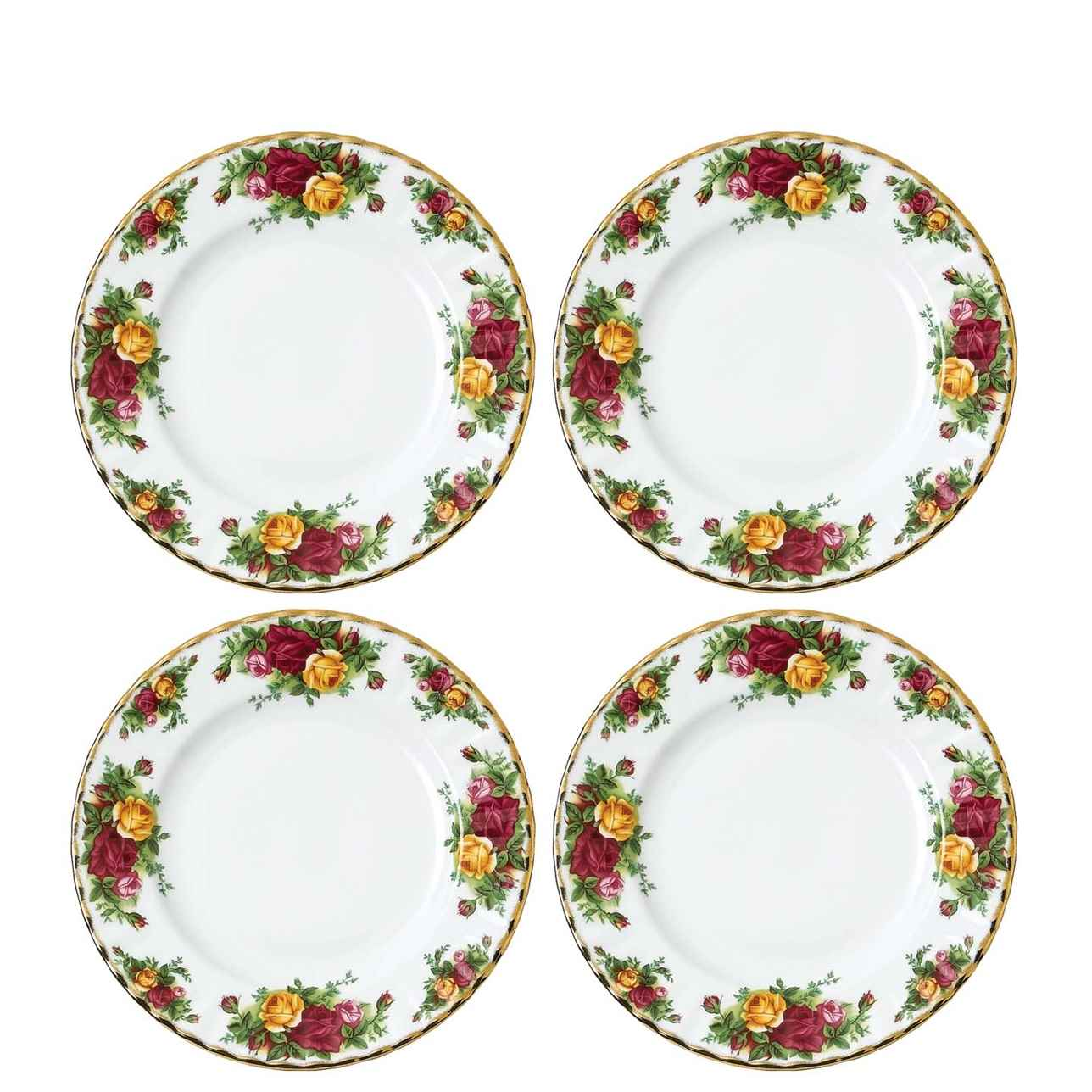 Royal Albert Old Country Roses Side Plate 20cm, Set of 4