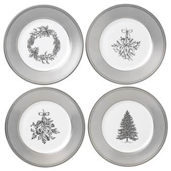 웨지우드 크리스마스 2020 윈터 화이트 샐러드 그릇 (4pc)Wedgwood Winter White Salad Plate Set of 4