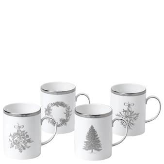 웨지우드 크리스마스 2020 윈터 화이트 머그잔 (4잔) Wedgwood Winter White Mug Set of 4