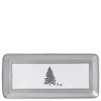 웨지우드 크리스마스 2020 윈터 화이트 샌드위치 접시 Wedgwood Winter White Sandwich Rectangular Tray