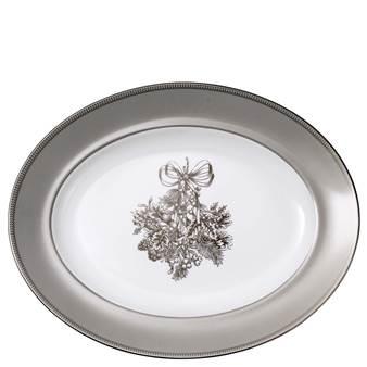 웨지우드 크리스마스 2020 윈터 화이트 오발 접시 Wedgwood Winter White Oval Platter