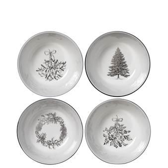 웨지우드 크리스마스 2020 윈터 화이트 보울 (4pc) Wedgwood Winter White Nibble Bowl, Set of 4