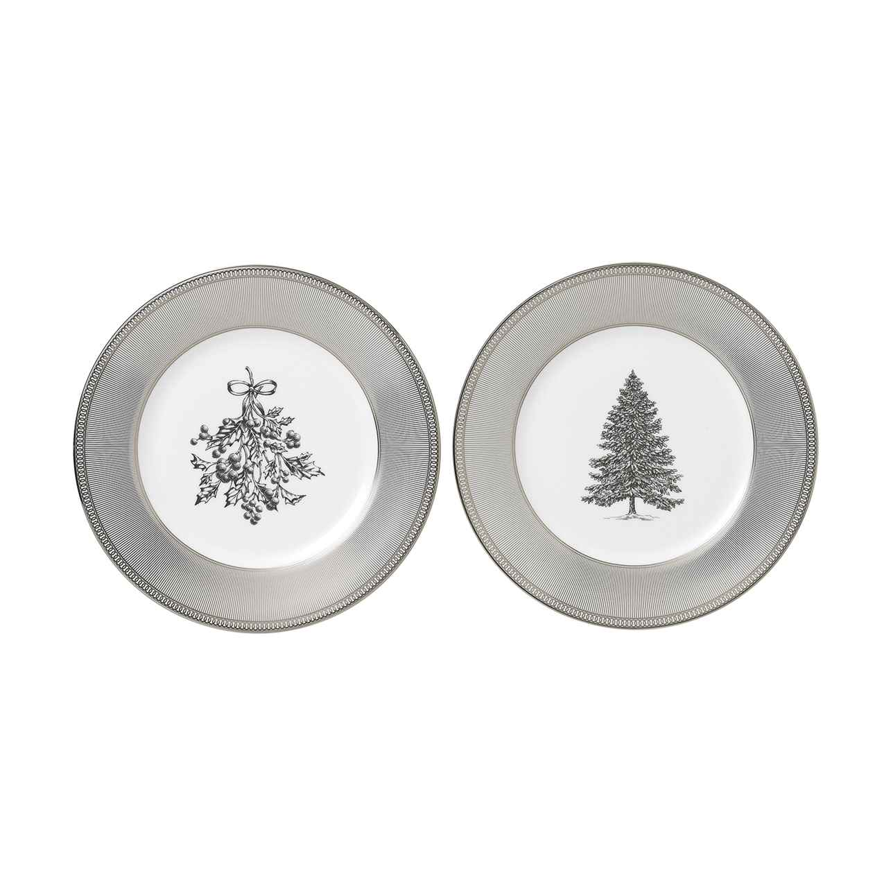 Winter White 20cm Plate, Set of Two