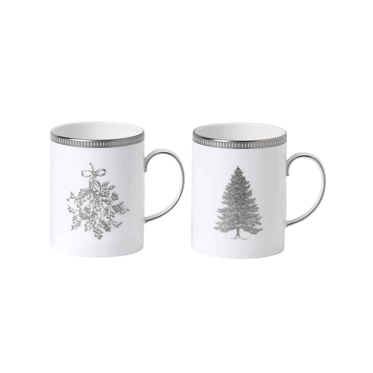 Winter White Mug, Set of Two