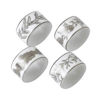 웨지우드 크리스마스 2020 윈터 화이트 냅킨링 (4pc) Wedgwood Winter White Napkin Rings Set of 4