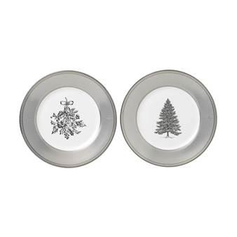 웨지우드 크리스마스 2020 윈터 화이트 접시 (2pc) Wedgwood Winter White 20cm Plate, Set of Two