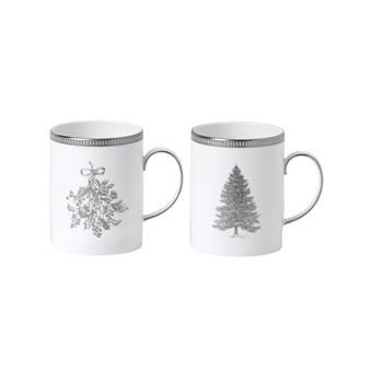 웨지우드 크리스마스 2020 윈터 화이트 머그잔 (2잔)Wedgwood Winter White Mug, Set of Two