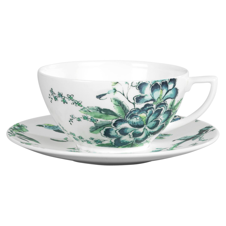 Crockery Jasper Conran Chinosserie White Teacup & Saucer