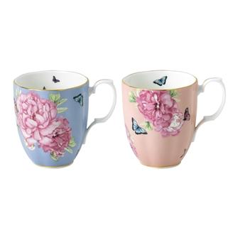로얄 알버트 X 미란다 커 프렌즈쉽 머그 세트 Miranda Kerr - mix and match with other pieces Royal Albert Miranda Kerr Friendship Hope & Tranquillity Mugs, Set of 2