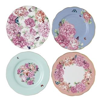 로얄 알버트 X 미란다 커 프렌즈쉽 접시 세트 Royal Albert Miranda Kerr Friendship Plates, Set of 4