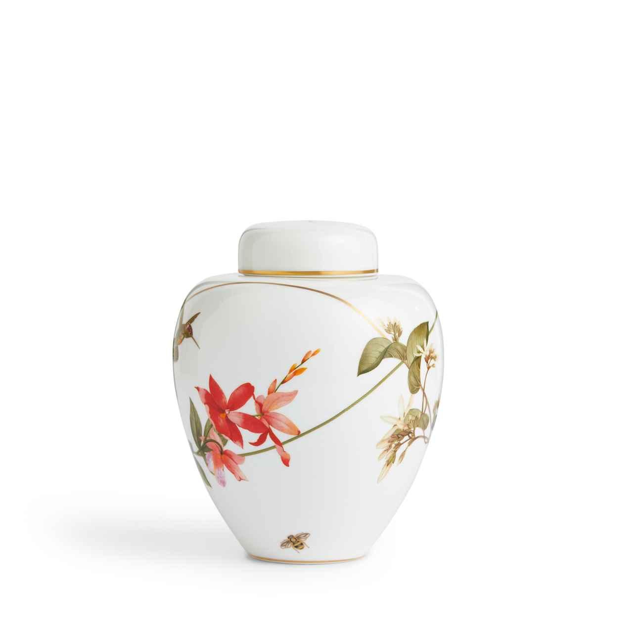 Hummingbird Lidded Vase 15cm