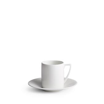 Jasper Conran White Coffee Cup & Saucer