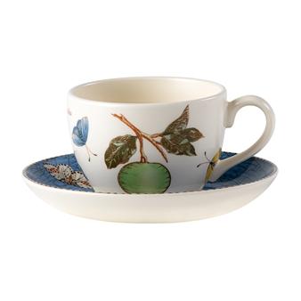 웨지우드 Wedgwood Sarahs Garden Teacup & Saucer Blue