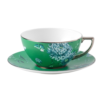Jasper Conran Chinoiserie Green Teacup & Saucer